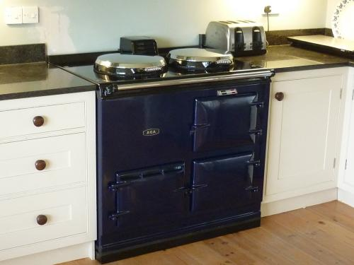 2 Oven Aga Cooker installed at Charmouth<br>Oxford Blue 13 amp electric