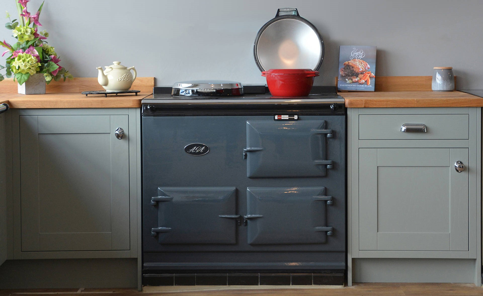 <p>2 Oven Post 74 Electric Aga Cooker</p><p>Installed in Dorset