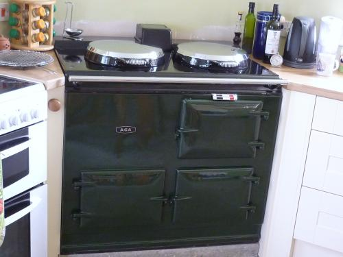2 Oven Aga Cooker Re-Enamelled in British Racing Green <br>13 Amp Electric <br>Installed in Somerset