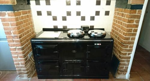 4 Oven Post 74 Aga Re-Enamelled in Black