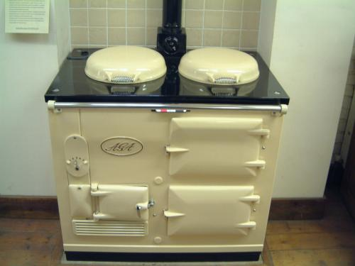 2 Oven Standard Aga cooker re-enamelled in cream.<br><br>We have more of this model in stock ready to be re-enamelled in your choice of colour. Price includes installation and a 2 year guarantee.<br><br>