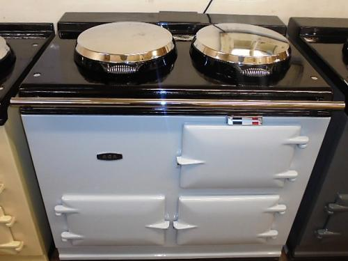 2 Oven Pre 74 Aga Cooker<br><br>Fully Refurbished and Re-enamelled in light Grey<br><br>Oil or Electric<br><br>Installed in a 50 mile radius with 2 year guarantee.<br>Charge for over 50 miles<br><br>