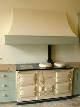 Standard 4 Oven Aga Cooker re-enamelled in cream.