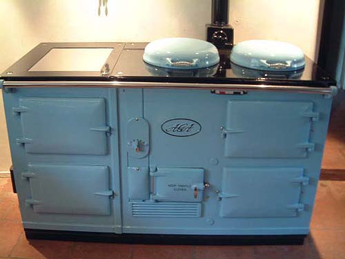 A four oven standard aga Cooker installed in Colyton.