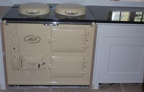 2 Oven Aga Standard Cooker Re-Enamelled in Cream<br>13 amp Electric<br>Installed in Somerset