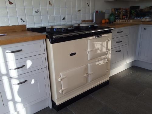 2 Oven Pre 74 Aga Re-Enamelled in Cream Running on Electric  Installed in Piddletrenthide, Dorset