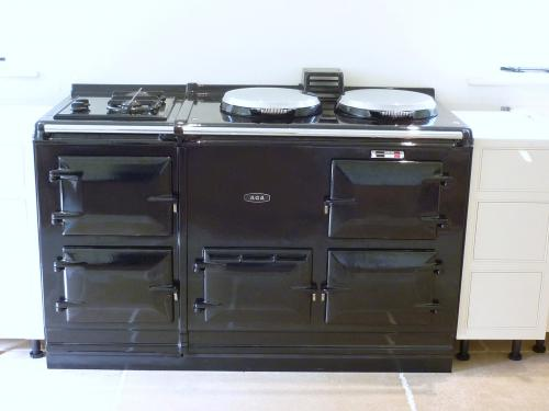 4 Oven 13 Amp Electric Aga Cooker installed in Hampshire<br>With 2 Ring Gas Hob