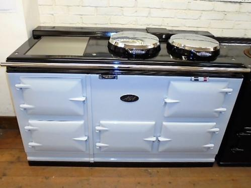 Early Model 4 Oven Pre 74 Aga Cooker<br><br>Fully Refurbished and Enamelled in Light Grey<br><br>One Piece Top<br><br>Converted to run on Electric<br><br>Installed in a 50 mile radius with 2 years guarantee<br>Charge for over 50 miles