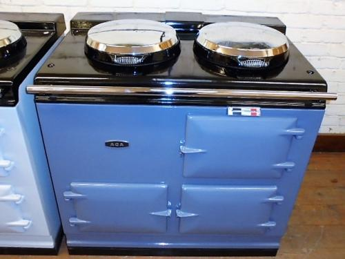 2Oven Pre 74 Aga Cooker<br><br>Fully Reconditioned<br><br>Re-Enamelled in Somerset Blue (New Colour)<br><br>Electric<br><br>Installed in a 50 mile radisu with 2 years guarantee<br>Extra Charge for over 50 miles <br>