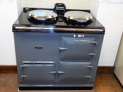 2 Oven Post 74 Aga Cooker<br>Fully reconditioned Re-Enamelled in Supreme Grey<br><br>Electric<br><br>Installed in a 50 mile radius with 2 years guarantee<br><br>Charge for over 50 miles