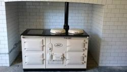 4 Oven Aga Standard fully reconditioned and Re-Enamelled in Ivory<br>Converted to Electric<br><br>Installed in Axbridge, Somerset