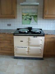 2 Oven Cream Aga Cooker 13 amp electric <br>Installed at Motcombe Shaftesbury